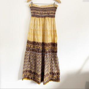 Fab'rik Strapless Boho Maxi Sundress